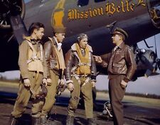COLOR WWII Photo Boeing B-17 Bomber Crew US Army Air Corps World War  WW2 / 5023