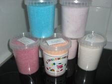 4 pots de 470 G sucre coloré  aromatisé barbe à papa 60 parfums