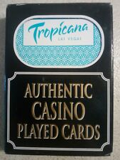 Tropicana Las Vegas Authentic Casino Played Cards - Trimmed - Sealed