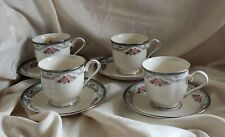 LENOX - COUNTRY ROMANCE - SET OF 4 CUPS & SAUCERS - DISCONTINUED PATTERN