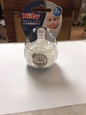 Nuby Natural Touch Bottle Nipples w/ Storage Case 2X 3+ Months Medium Flow