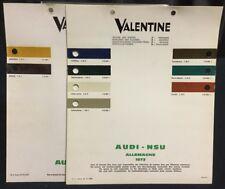 Rare Lot Nuancier Colori VALENTINE 1973-74 AUDI NSU PRINZ