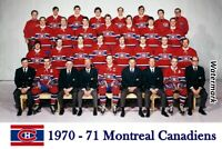 NHL 1970 - 71 Montreal Canadiens Color team Picture 8 X 12 Photo Pic Free Ship