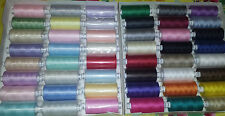 Sewing Tread Polyester 10 x 1000 yds Light Assorted Colours Moon - Coats