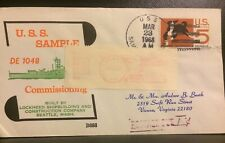 BECK NAVAL HISTORY POSTAGE DUE COVER #B688  :ONBOARD USS SAMPLE