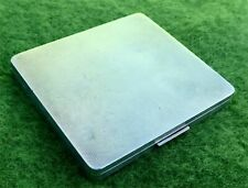 DUNHILL - STYLISH ART DECO SILVER BOX WITH GOLD LID LIFTER -LONDON 1939 -3.8 ozt