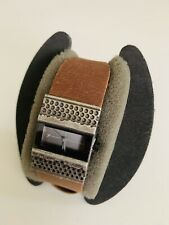 Fast Track Rare Rectangular Watch Vintage Leather