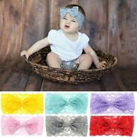 Turban Hair Accessories Girls Baby Headband Lace Bow Knot Hair Band Headwrap