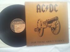 AC / DC FOR THOSE ABOUT TO ROCK GERMAN COLLECTORS EDITION 12 INCH VINYL LP 1981