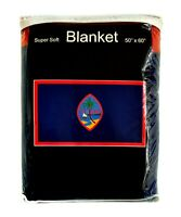 "Guam Flag Fleece Blanket 50""x60"" *NEW* Guamanian Coat of Arms Travel Throw Cover"