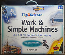 FLIP 4 SCIENCE WORK & SIMPLE MACHINES-Activity Center Kit By Learning Resources