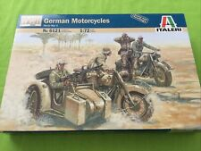 German Motorcycles World War II 1:72 Scale Plastic Model Kit Italeri No.6121