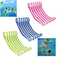 Deluxe Pool Water Hammock Recliner Lounge Float Raft Lounger Chair Inflatable US