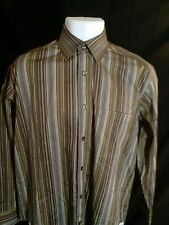 Men's New JOHNSTON & MURPHY Multi-Color Striped L/S Button-Front Shirt Sz S. NWT