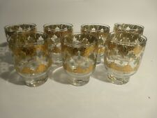 """Set of 7 Culver Double Old Fashioned Tumblers 4 1/4"""" 12 oz"""