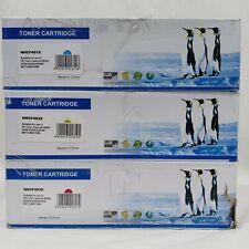 3 Pack CF401X CF402X CF403X 201X Toner Set for HP LaserJet M277dw M277n M252dw