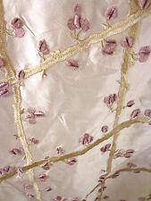 Zimmer Rohde tafetán de seda enrejado de tela bordado de uva Marfil MSRP $300/yd!