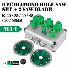 2xTrennscheiben 5-teiliges Superb Diamant-Bohrkronen Set M14 20//35//40//50//65mm