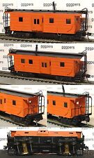 HO train NICKEL PLATE Brass Ribbed Side Bay Window Caboose MILWAUKEE, MILW *aftp