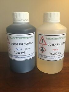 PDW RTV UC85A Polyurethane Casting Rubber Kit BLACK Fast Cure Various