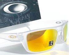 NEW* Oakley DROP POINT Matte Clear w Fire Iridium lens Sunglass oo9367-05