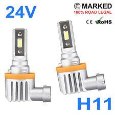 2 x 24v LED H11 711 Headlight Hella Spot 320FF HGV Truck Xenon White PGJ19-2