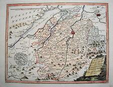 Kanton Freiburg Bern Ruw Bulle Mex  Schweiz Kupferstich Reilly Landkarte 1780