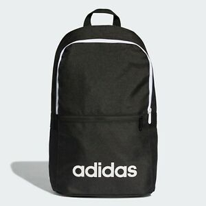 adidas Black/Pink/Blue/Grey/Navy Linear Classic Backpack Rucksack Schoolbag
