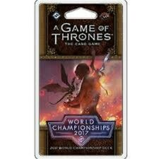 GAME OF THRONES LCG WORLD CHAMPIONSHIPS 2017 DECK CARD GAME BRAND NEW & SEALED