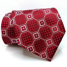"DONALD J TRUMP Signature Collection Geometric Tie w/ Gold Bar - 3.5""W x 59""L"