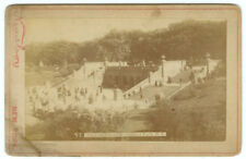 RARE NEW YORK ARCHITECTURAL: The Terrace in Central Park Newsboy Cabinet Card