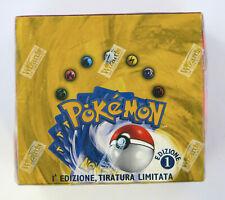 Pokemon Box Set Base 1st edition Booster Sealed Italiano 1 Edizione Sigillato