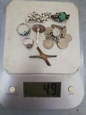 lot de bijoux en argent à fondre 49 grs