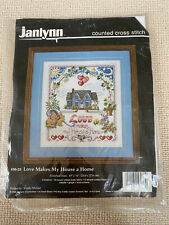 JANLYNN DESIGN BY URSULA MICHAEL COUNTED CROSS STITCH LOVE MAKES MY HOUSE A HOME