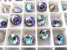 6 Paradise Shine Foiled Swarovski Crystal Chaton Stone 1088 39ss 8mm