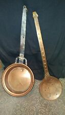 VINTAGE COPPER LADLE AND SIEVE SPOON