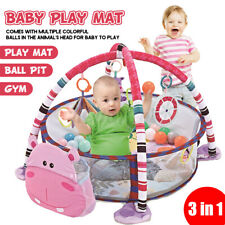 3 In 1 Baby Infant Activity Gym Play Mat Set Play Center With 30pcs Ocean Us