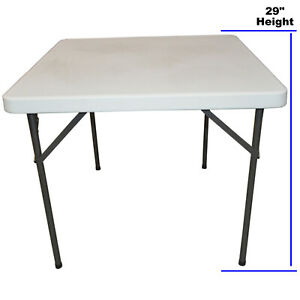 3ft Blow Moulded Trestle Table Market Stall, Garden, Super Strong Folding Legs