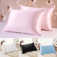 Silky Queen Polyester Cushion Cover Bedding Pillow Case Super Sofe Home Bedroom