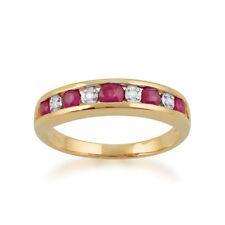 Anelli di lusso tondi di rubino Diamante