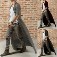 Men Autumn Baggy Casual Full Length Cardigan Long Cloak Cape Coat Beach Tops