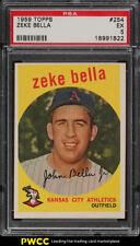 1959 Topps Zeke Bella #254 PSA 5 EX