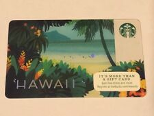Rare NEW Starbucks Card 2014 Hawaii Paradise - Limited Edition MINT