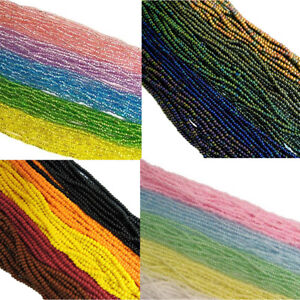 Czech 8/0 Traditional Glass Seed Beads 12 String Hank Preciosa 100 Colors U-Pick