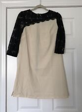Cute Asos Paper Dolls Lace Top Shift Dress Size 6 Cream And Black