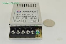 Regulated 1.67a MS-20-12 12 volt switching power supply from maker electric