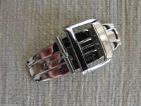 New HQ 316L 16mm Stainless Steel Silver Deployment Buckle-Clasp Fit JLC Straps