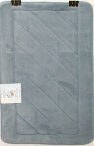 Diagonal Stripe Super Plush Memory Foam Bath Mat  Multiple Sizes & Colors