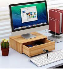 DIY Office Wood Desktop Organizers Stationer Holder Storage Box Computer Cushion