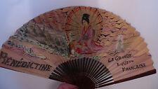 EVENTAIL PUBLICITAIRE ANCIEN BENEDICTINE  theme japonisant